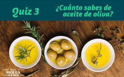 Quiz 3 ¿Cuánto sabes del aceite de oliva?