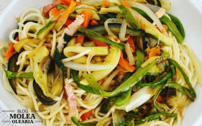 Receta: Espaguetis con verdura y bacon
